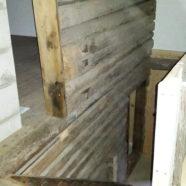 Renovering av flygel, ovan trapp