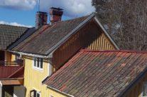 Innan omläggning av tak i Grythyttan