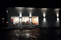 Pizzans Hus, kvällsbelysning