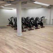 Hällefors Gym; Lokal källare iordning för spinning